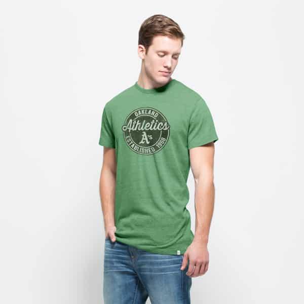 Oakland Athletics Tri-State T-Shirt Mens Cash Green 47 Brand