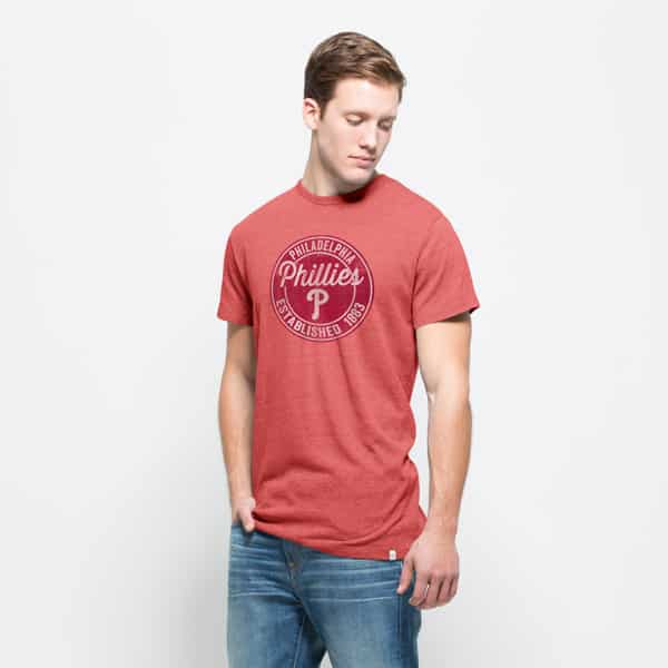 Philadelphia Phillies Tri-State T-Shirt Mens Cranberry 47 Brand