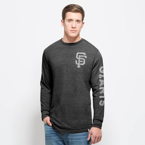 San Francisco Giants Tri-State Long Sleeve T-Shirt Mens Carbon Black 47 Brand