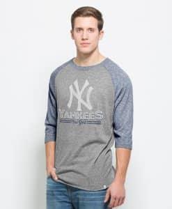 New York Yankees Union Baseball T-Shirt Mens Vintage Grey 47 Brand