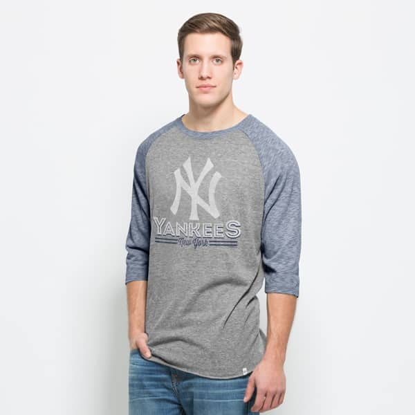 New York Yankees Union Baseball T-Shirt Mens Vintage Grey 47 Brand