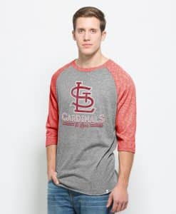 St. Louis Cardinals Union Baseball T-Shirt Mens Vintage Grey 47 Brand