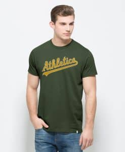 Oakland Athletics Flanker Mvp T-Shirt Mens Bottle Green 47 Brand