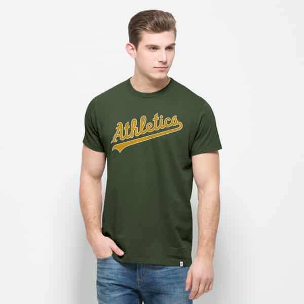 Oakland Athletics Flanker Mvp T-Shirt Mens Bottle Green 47 Brand