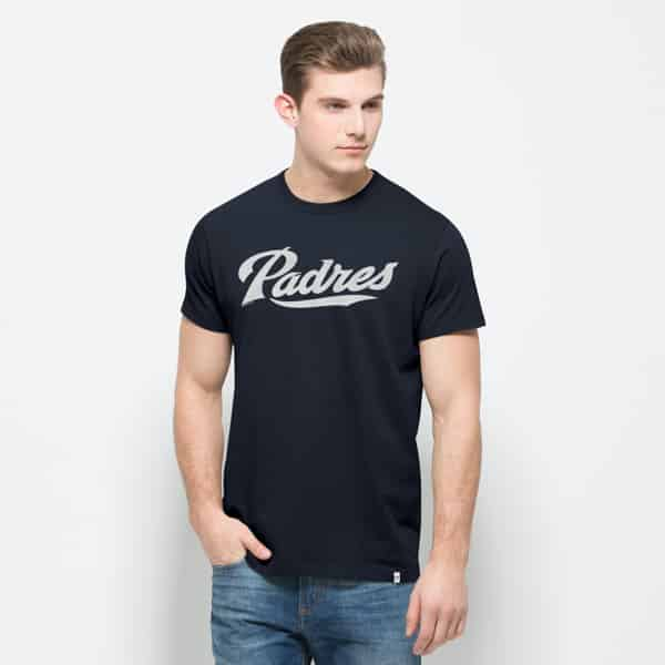 San Diego Padres Flanker Mvp T-Shirt Mens Fall Navy 47 Brand