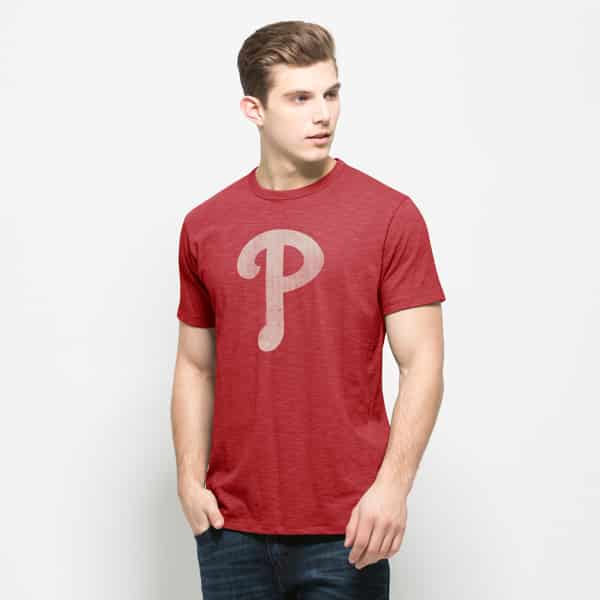 Philadelphia Phillies Scrum T-Shirt Mens Rescue Red 47 Brand