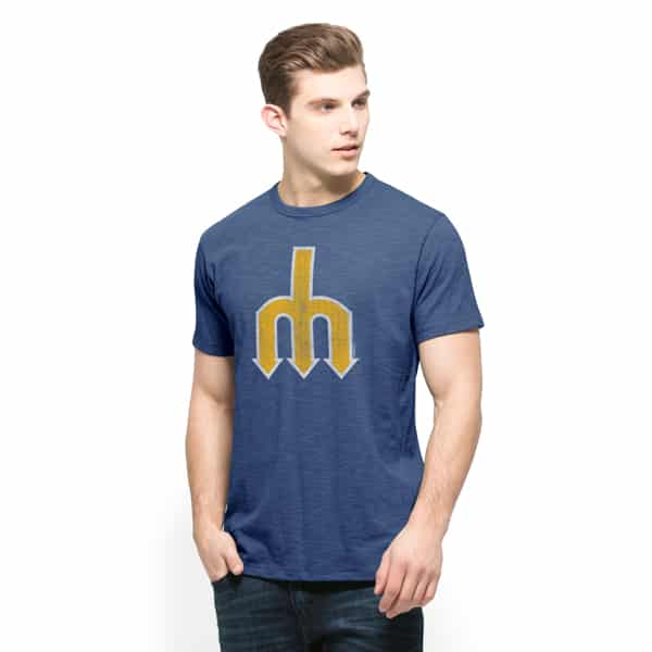 Seattle Mariners Scrum T-Shirt Mens Bleacher Blue 47 Brand