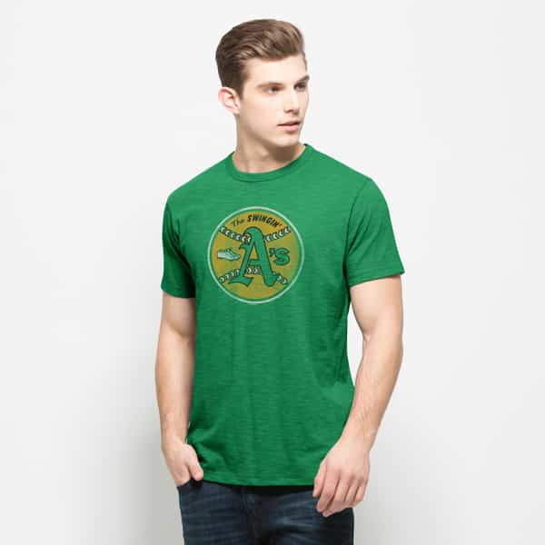 Oakland Athletics Scrum T-Shirt Mens Kelly 47 Brand