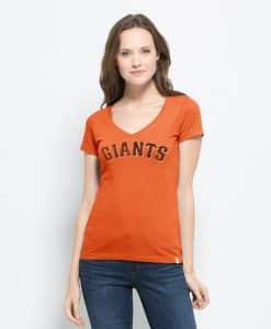 San Francisco Giants Flanker Mvp V-Neck Shirt Womens Carrot 47 Brand