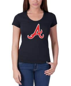Atlanta Braves Knockout Scoop Womens Fall Navy 47 Brand