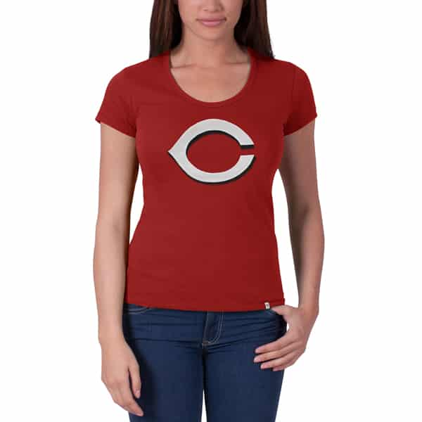 Cincinnati Reds Knockout Scoop Womens Rescue Red 47 Brand