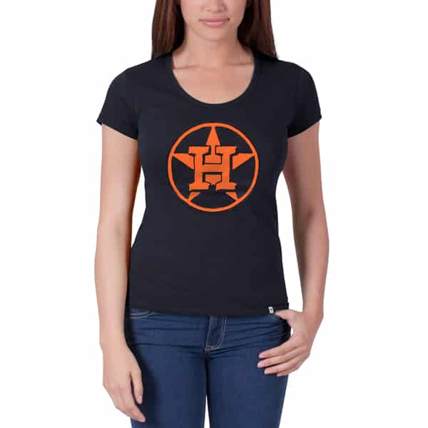Houston Astros Knockout Scoop Womens Fall Navy 47 Brand Shirt
