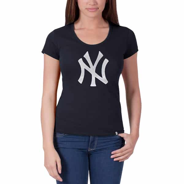 New York Yankees Knockout Scoop Womens Fall Navy 47 Brand Shirt
