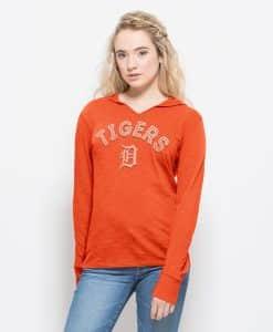 Detroit Tigers Primetime Hoodie Womens Orbit Orange 47 Brand