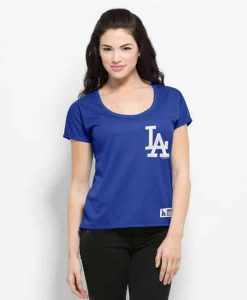Los Angeles Dodgers Intramural Logo T-Shirt Womens Booster Blue 47 Brand