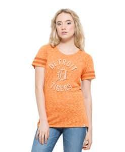 Detroit Tigers Aerial T-Shirt Womens Nectarine 47 Brand