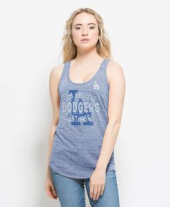 Los Angeles Dodgers Splash Tank Top Womens Coastal Blue 47 Brand