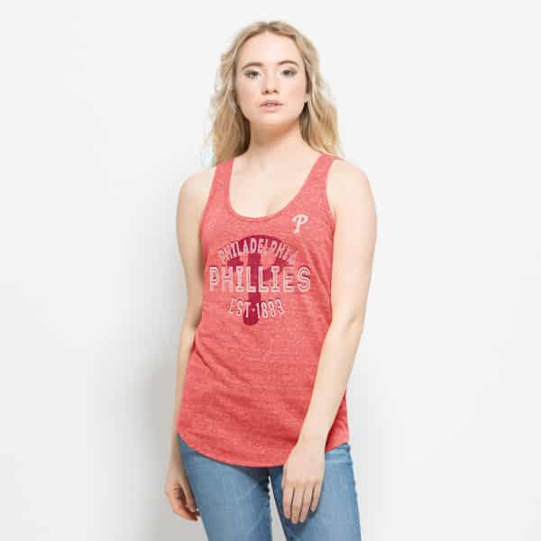 Philadelphia Phillies Splash Tank Top Womens Cranberry 47 Brand