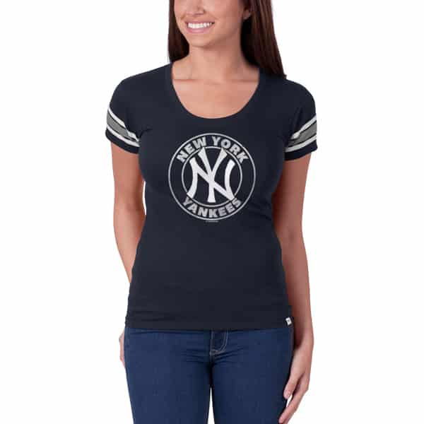 New York Yankees Off Campus Scoop NY Womens Navy 47 Brand Shirt