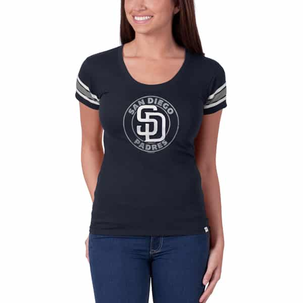 San Diego Padres Off Campus Scoop Womens Fall Navy 47 Brand