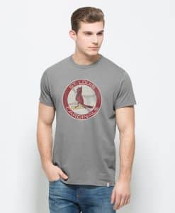 St. Louis Cardinals Knockaround Flanker T-Shirt Mens Wolf Grey 47 Brand