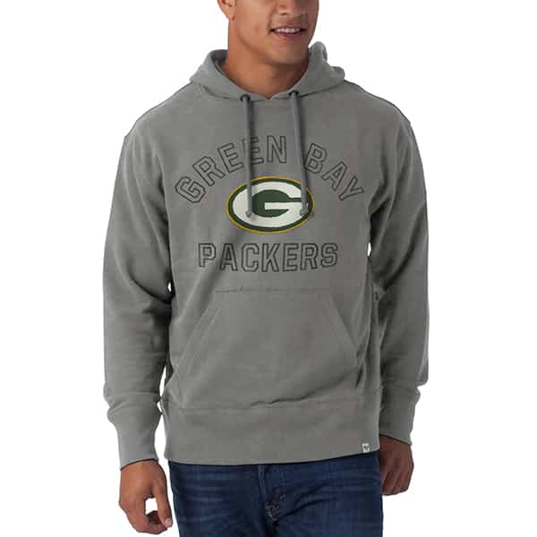 Green Bay Packers Striker Pullover Mens Wolf Grey 47 Brand