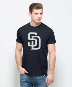 San Diego Padres All Pro Flanker T-Shirt Mens Fall Navy 47 Brand