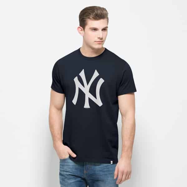 New York Yankees All Pro Flanker T-Shirt Mens Fall Navy 47 Brand