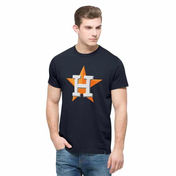 Houston Astros All Pro Flanker T-Shirt Mens Fall Navy 47 Brand