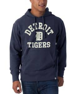 Detroit Tigers Men's 47 Brand Striker Midnight Pullover Hoodie