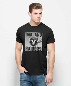 Oakland Raiders Crosstown Flanker T-Shirt Mens Jet Black 47 Brand