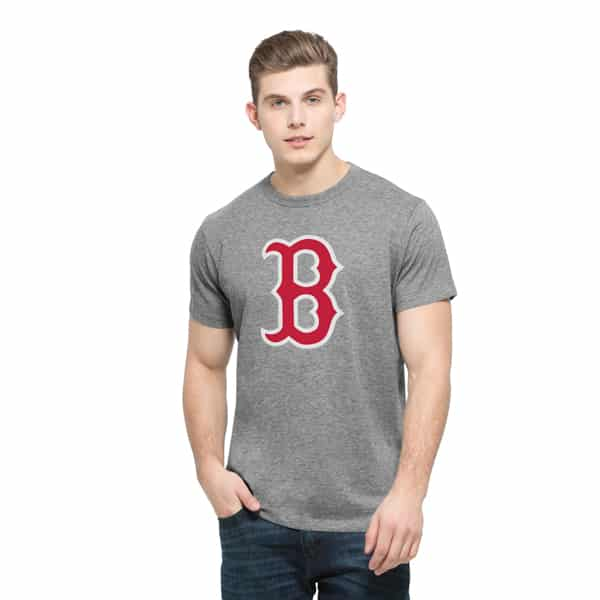 Boston Red Sox Frozen Rope T-Shirt Mens Slim Slate Grey 47 Brand