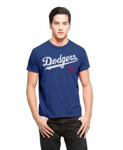 Los Angeles Dodgers Frozen Rope T-Shirt Mens Slim Booster Blue 47 Brand