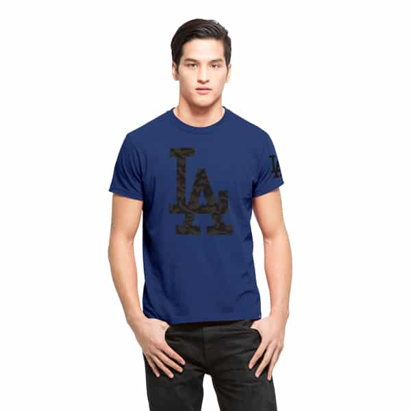 Los Angeles Dodgers M29 Frozen Rope T-Shirt Mens Slim Booster Blue 47 Brand