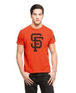 San Francisco Giants M29 Frozen Rope T-Shirt Mens Slim Orbit Orange 47 Brand