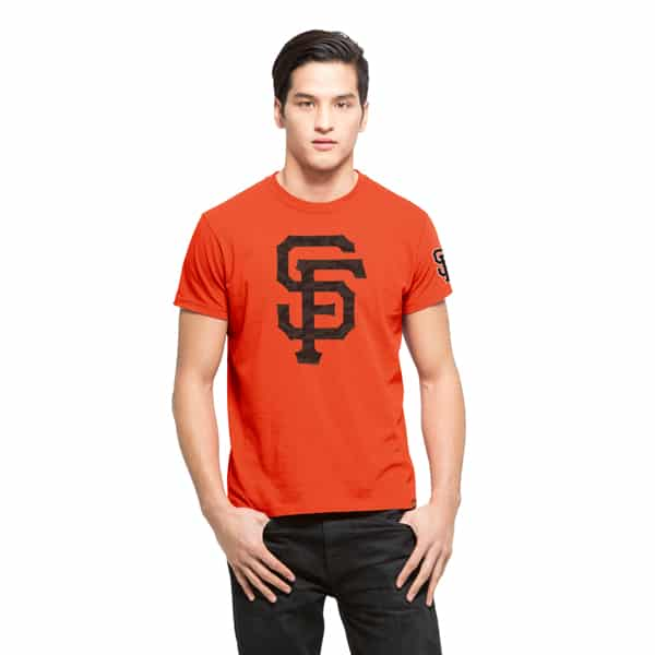 San Francisco Giants M29 Frozen Rope T-Shirt Mens Slim Orbit Orange 47 Brand
