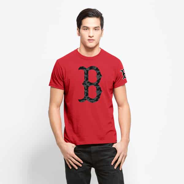 Boston Red Sox M29 Frozen Rope T-Shirt Mens Slim Rebound Red 47 Brand