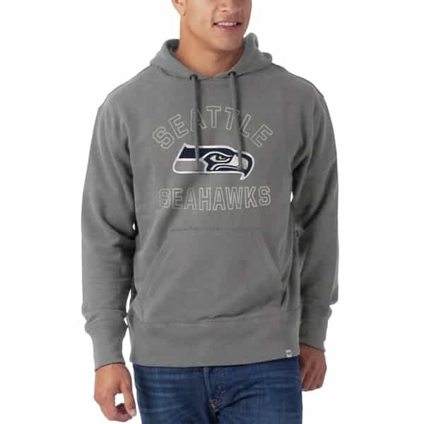 Seattle Seahawks Striker Pullover Mens Wolf Grey 47 Brand