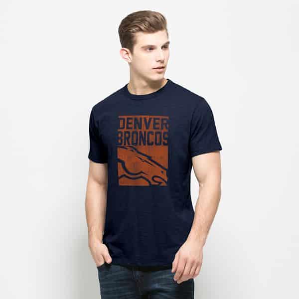 Denver Broncos Scrum T-Shirt Mens Midnight 47 Brand