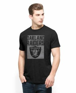 Oakland Raiders Scrum T-Shirt Mens Jet Black 47 Brand