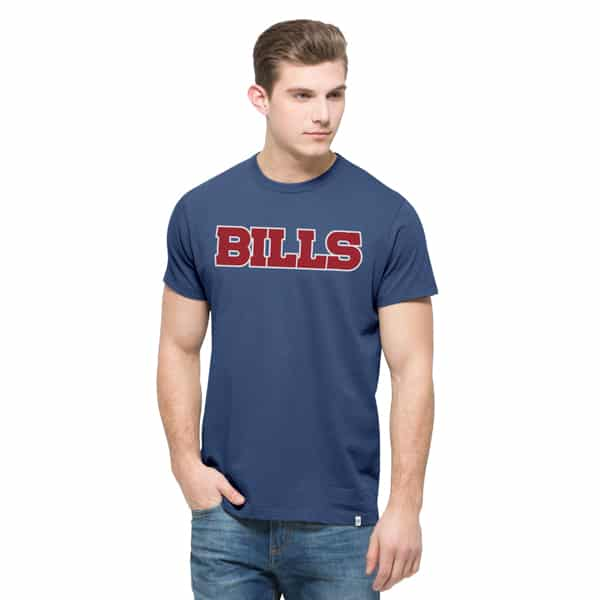 Buffalo Bills Crosstown Mvp T-Shirt Mens Bleacher Blue 47 Brand