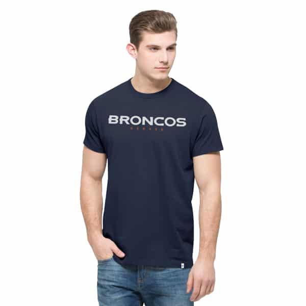 Denver Broncos Crosstown Mvp T-Shirt Mens Midnight 47 Brand