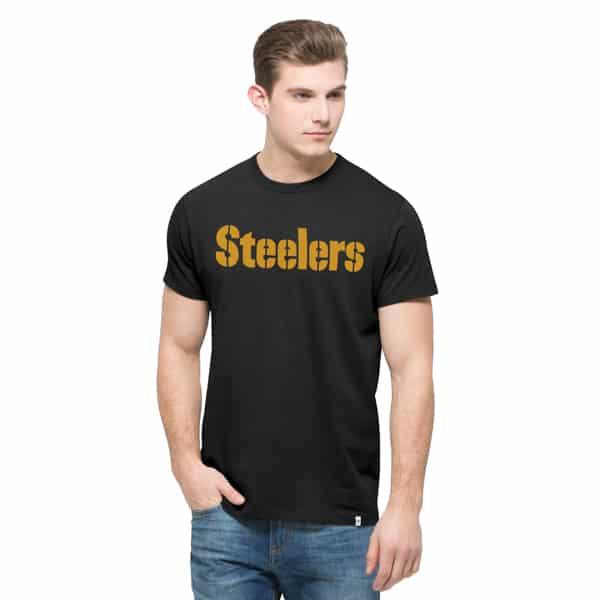 Pittsburgh Steelers Crosstown Mvp T-Shirt Mens Jet Black 47 Brand