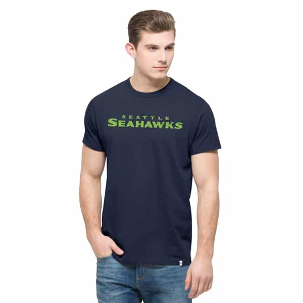 Seattle Seahawks Crosstown Mvp T-Shirt Mens Midnight 47 Brand