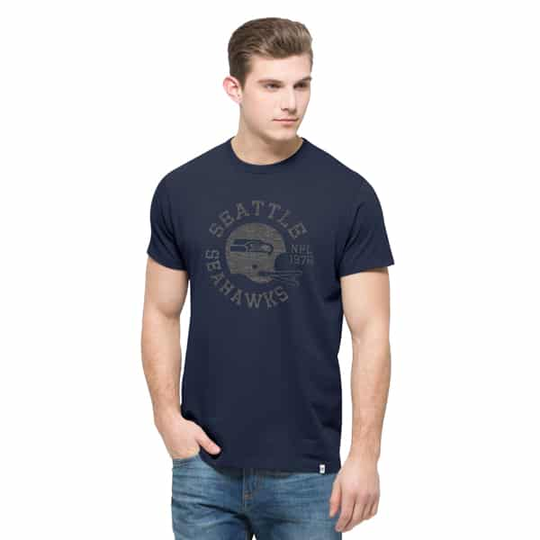 Seattle Seahawks Crosstown Flanker T-Shirt Mens Midnight 47 Brand