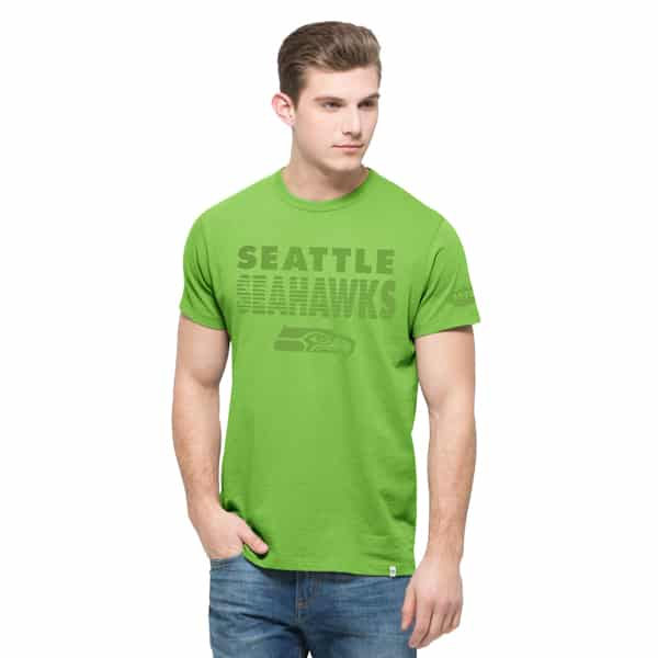 Seattle Seahawks Double Rush T-Shirt Mens Kiwi 47 Brand