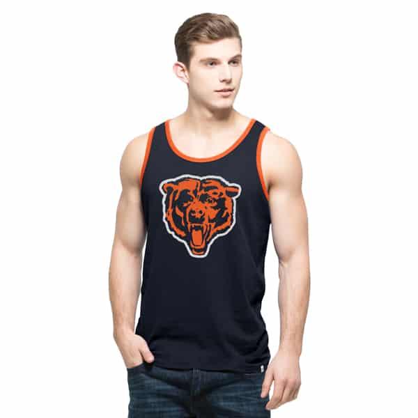 Chicago Bears Crosstown Tank Top Mens Fall Navy 47 Brand