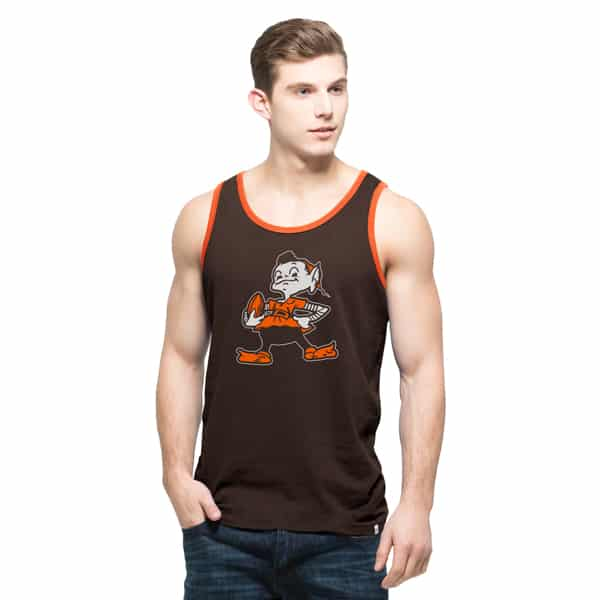 Cleveland Browns Crosstown Tank Top Mens Chocolate 47 Brand