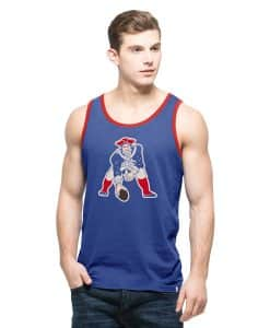 New England Patriots Crosstown Tank Top Mens Booster Blue 47 Brand