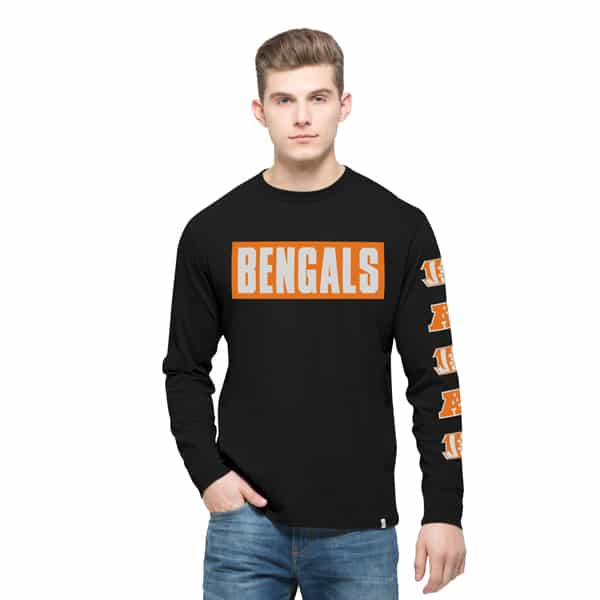 Cincinnati Bengals Crosstown Team Long Sleeve Mens Jet Black 47 Brand
